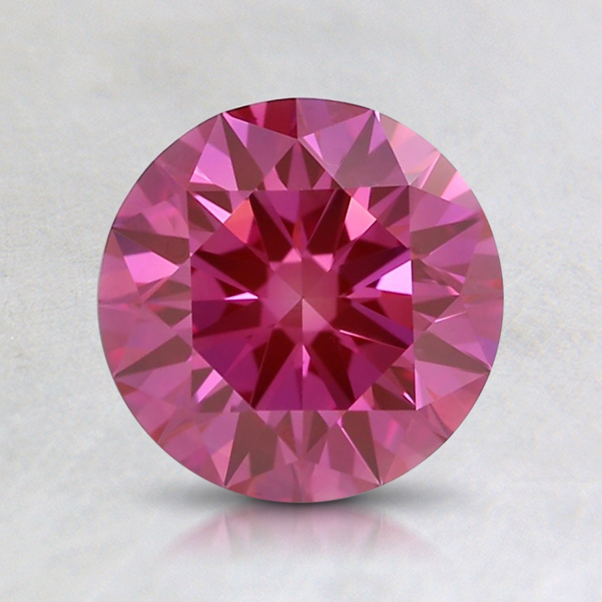 1.19 Ct. Fancy Vivid Purplish Pink Round Lab Created Diamond