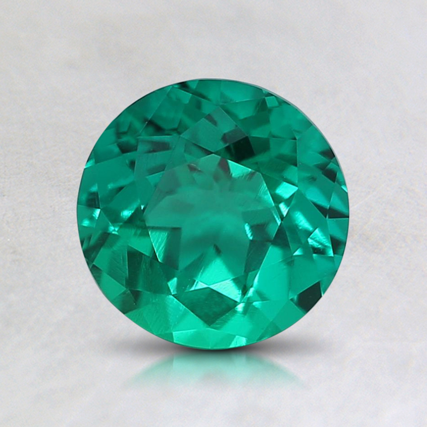 6.5mm Round Lab Created Emerald