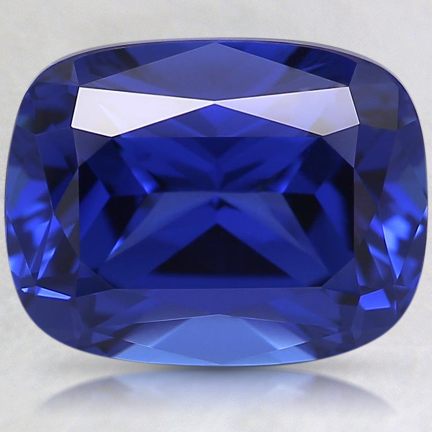9x7mm Blue Cushion Lab Created Sapphire