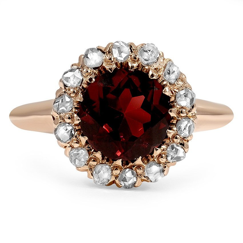 Art Deco Garnet Vintage Ring Auden Brilliant Earth