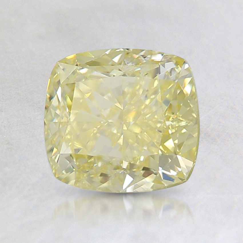 1.56 Ct. Fancy Intense Yellow Cushion Diamond