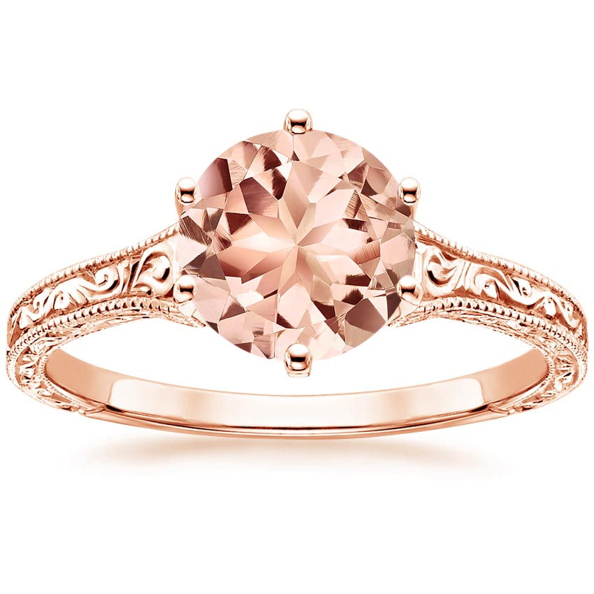 Rose Gold Morganite Hudson Ring