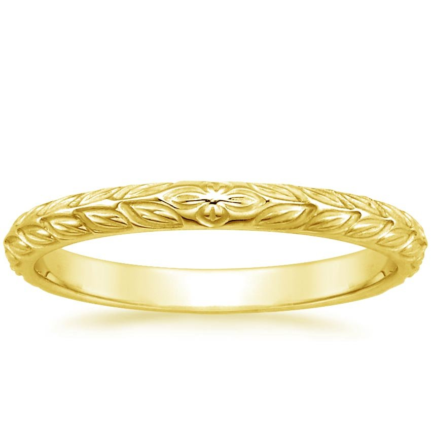 18K Yellow Gold Garland Ring, top view