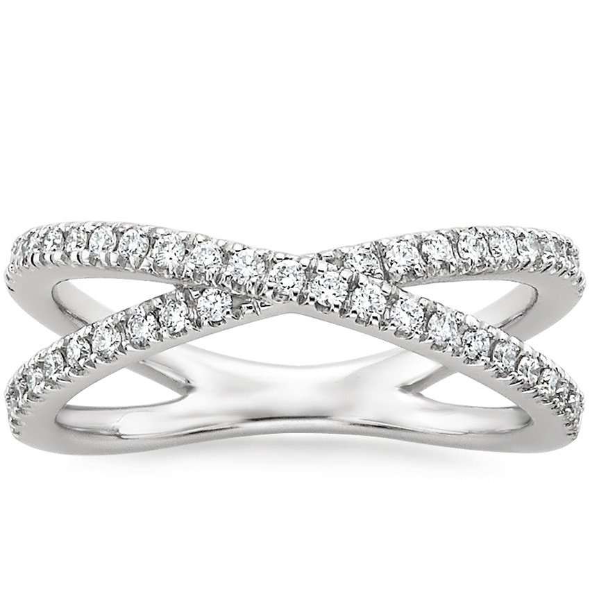 Top Twenty Valentine's Gifts - 18K WHITE GOLD BISOU DIAMOND RING