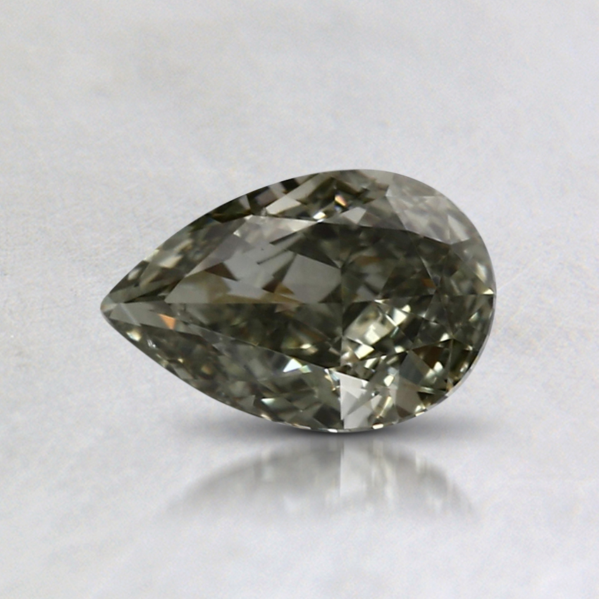 0.54 Ct. Fancy Grayish Yellow Green Pear Colored Diamond