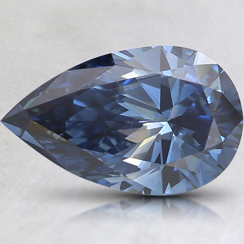 1.52 Ct. Fancy Intense Blue Pear Lab Created Diamond
