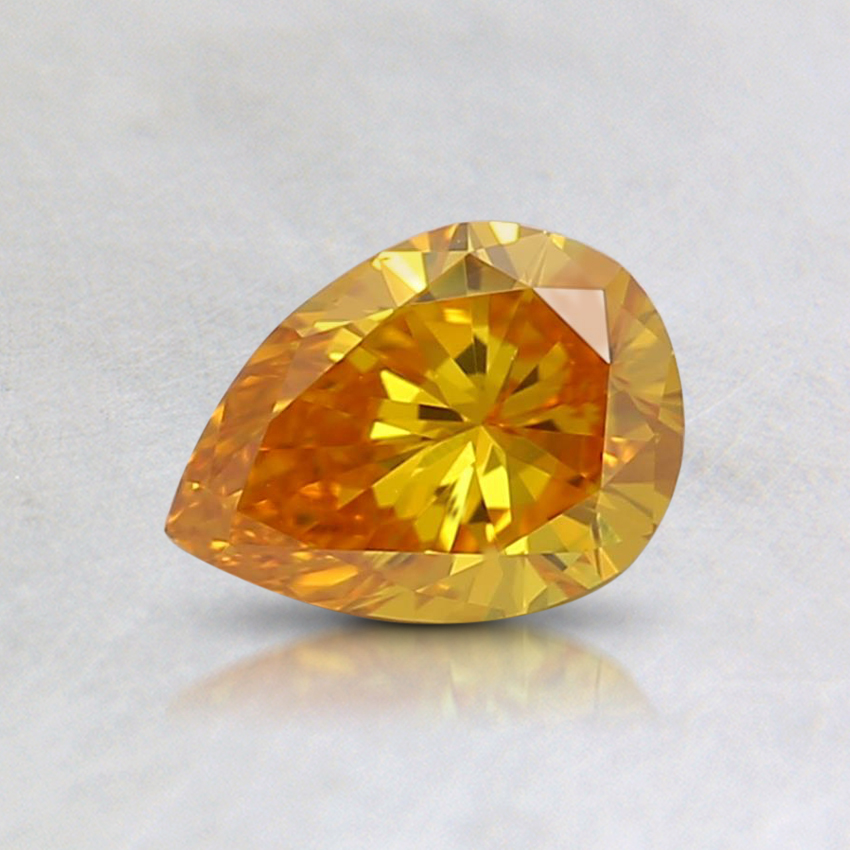 0.46 Ct. Fancy Vivid Orange-Yellow Pear Lab Created Diamond