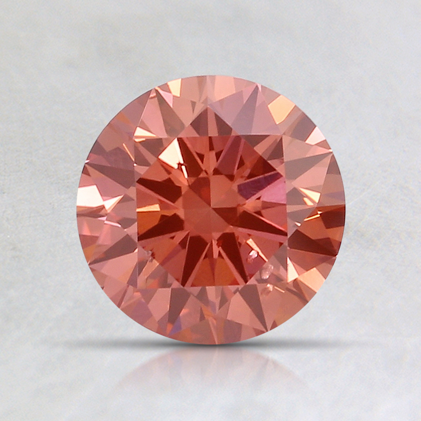 1.00 Ct. Fancy Intense Orangy Pink Round Lab Created Diamond