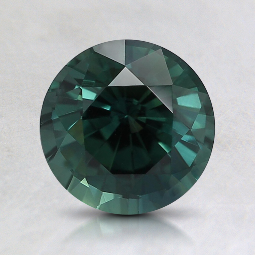 7mm Unheated Teal Round Sapphire