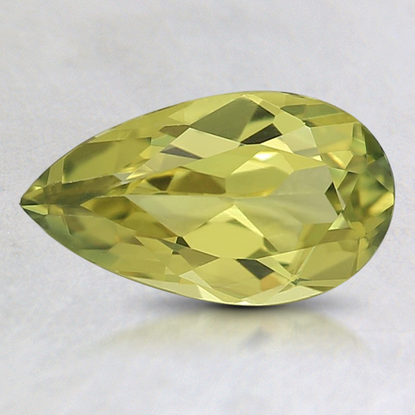 9.1x5.2mm Unheated Yellow Pear Australian Sapphire