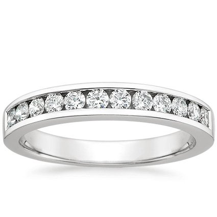 Channel Set Round Diamond Ring (1/3 ct. tw.) in 18K White Gold