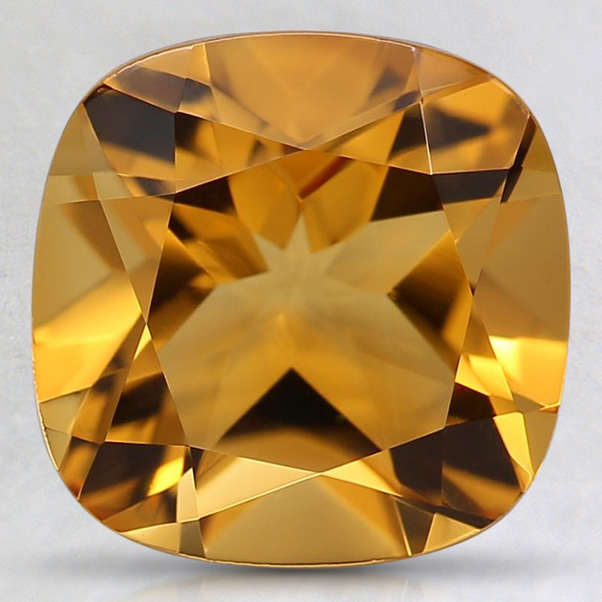 9.1mm Orange Cushion Citrine