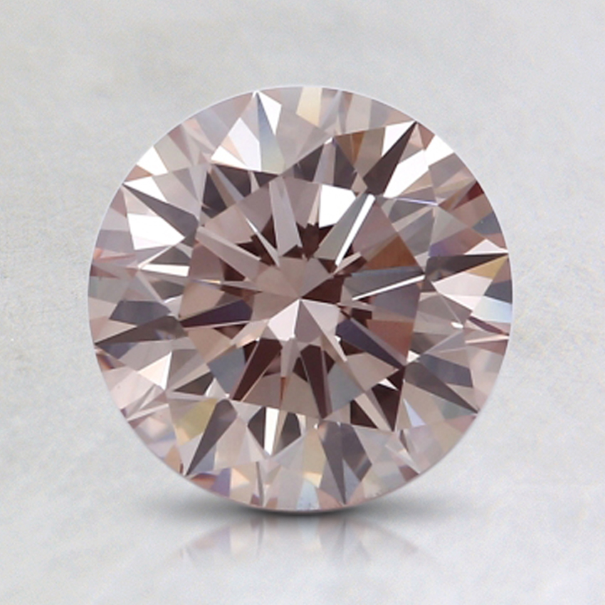 1.33 Ct. Fancy Pink-Brown Round Lab Created Diamond