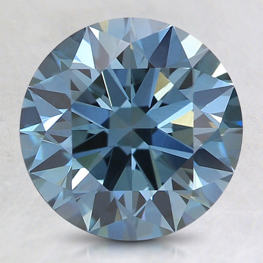 2.37 Ct. Fancy Intense Blue Round Lab Created Diamond