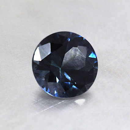 5.5mm Montana Teal Round Sapphire, top view