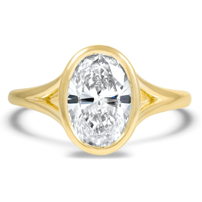 Custom Modern Solitaire Engagement Ring