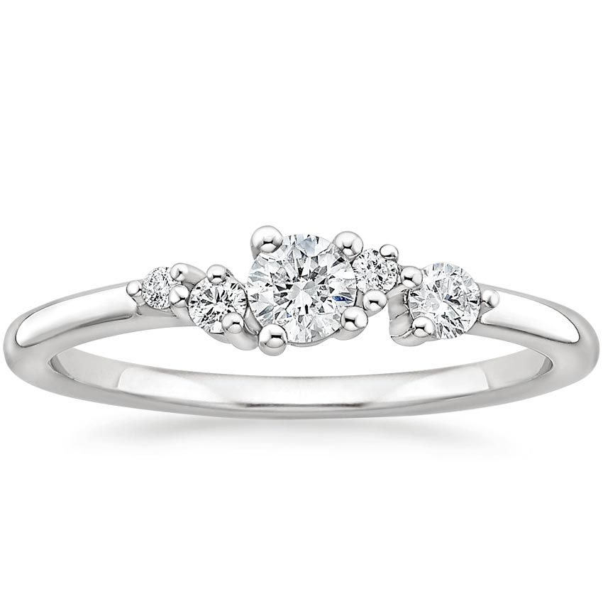 Modern Cluster Wedding Ring