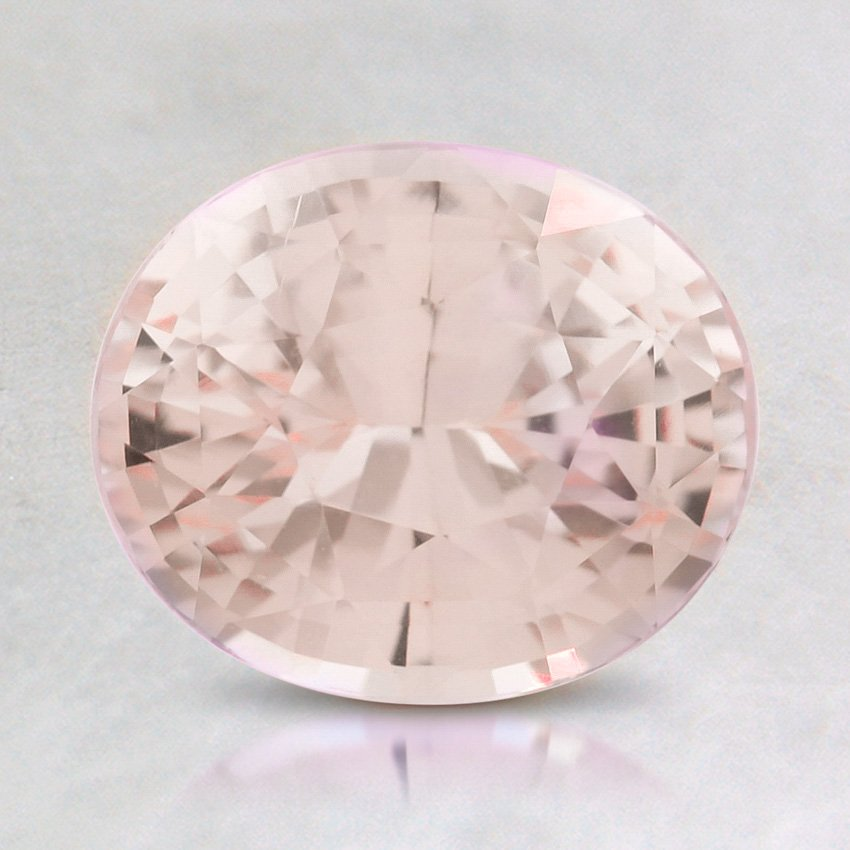 8X7mm Premium Peach Oval Sapphire, top view