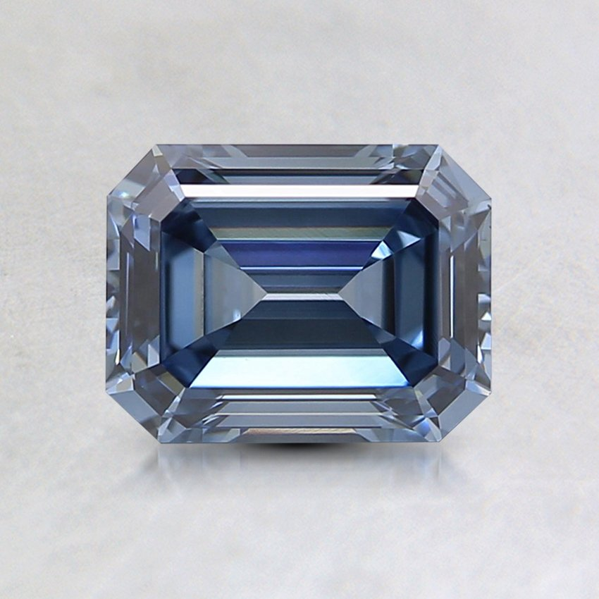 0.96 Ct. Lab Created Fancy Blue Emerald Cut Diamond
