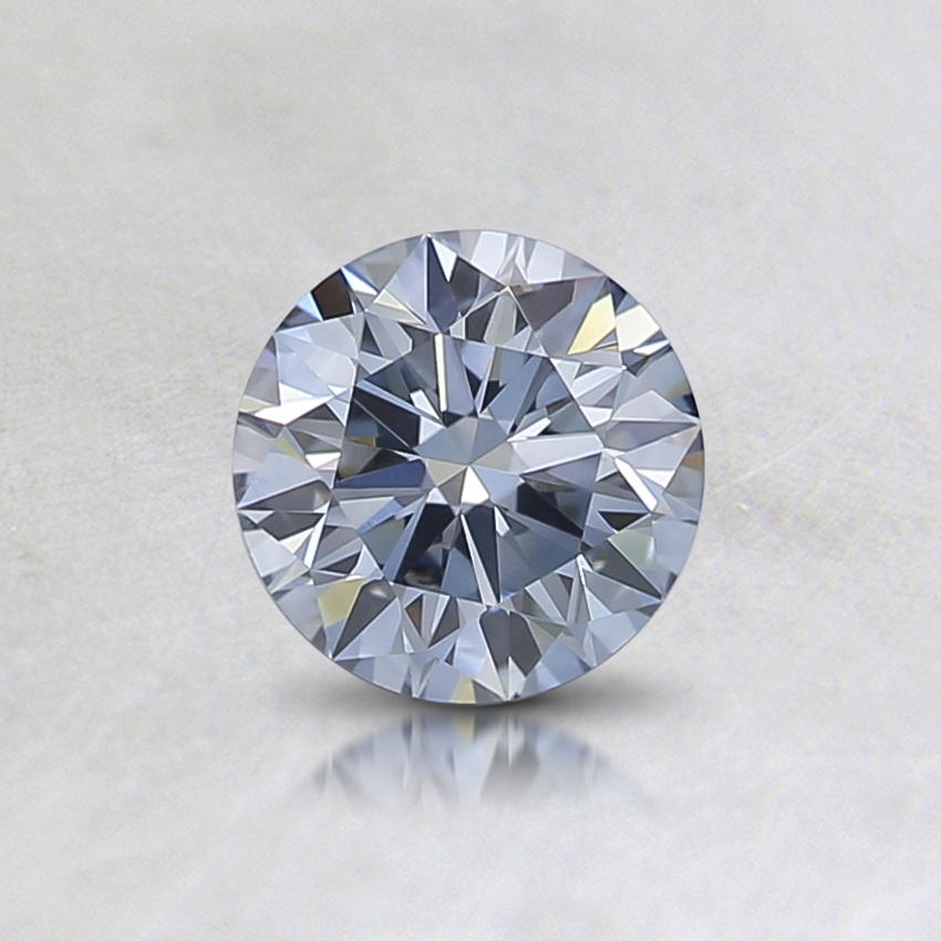 0.52 Ct. Lab Created Fancy Blue Round Diamond, top view