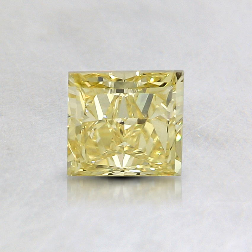 0.63 Ct. Natural Fancy Intense Yellow Princess Diamond