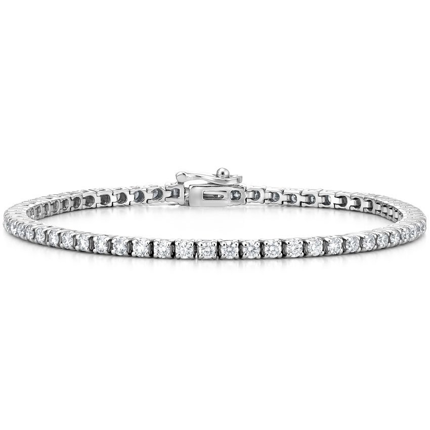 Top Twenty Anniversary Gifts - 18K WHITE GOLD DIAMOND TENNIS BRACELET (3.0 CT. TW.)