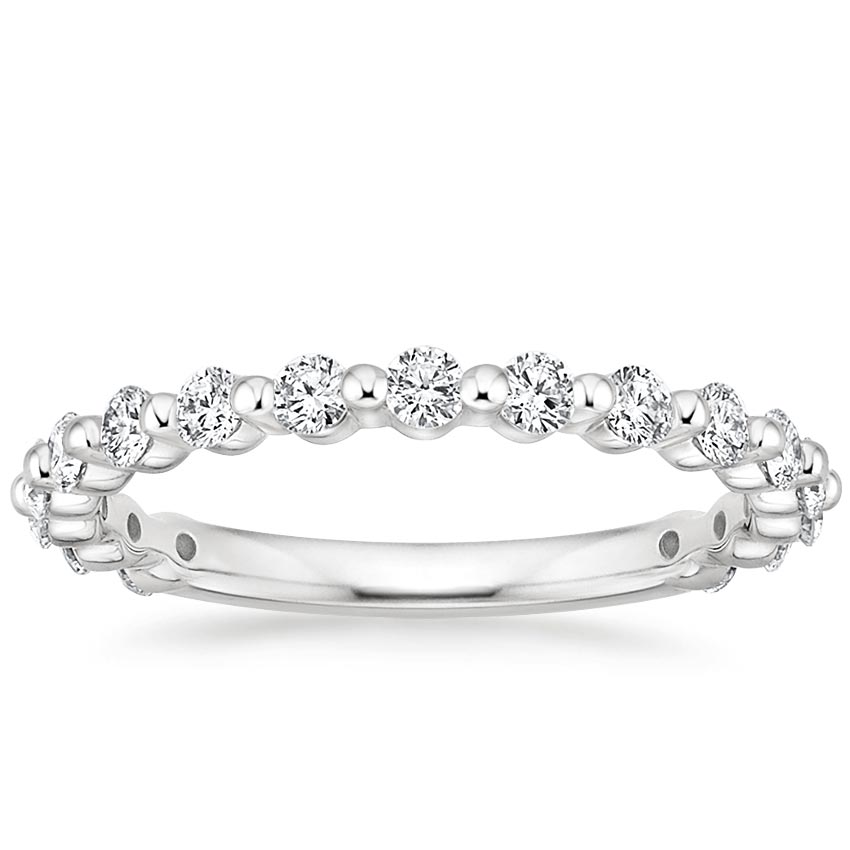 Floating Shared Prong Wedding Ring