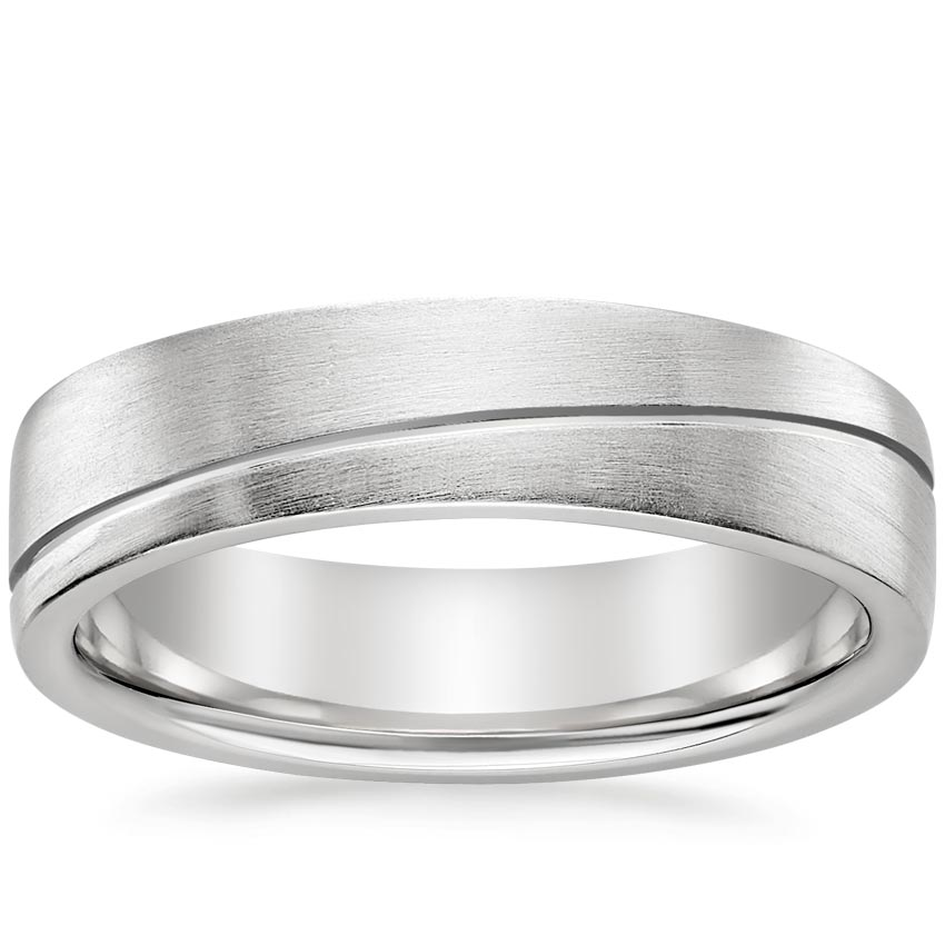 Matte Grooved Men's Ring