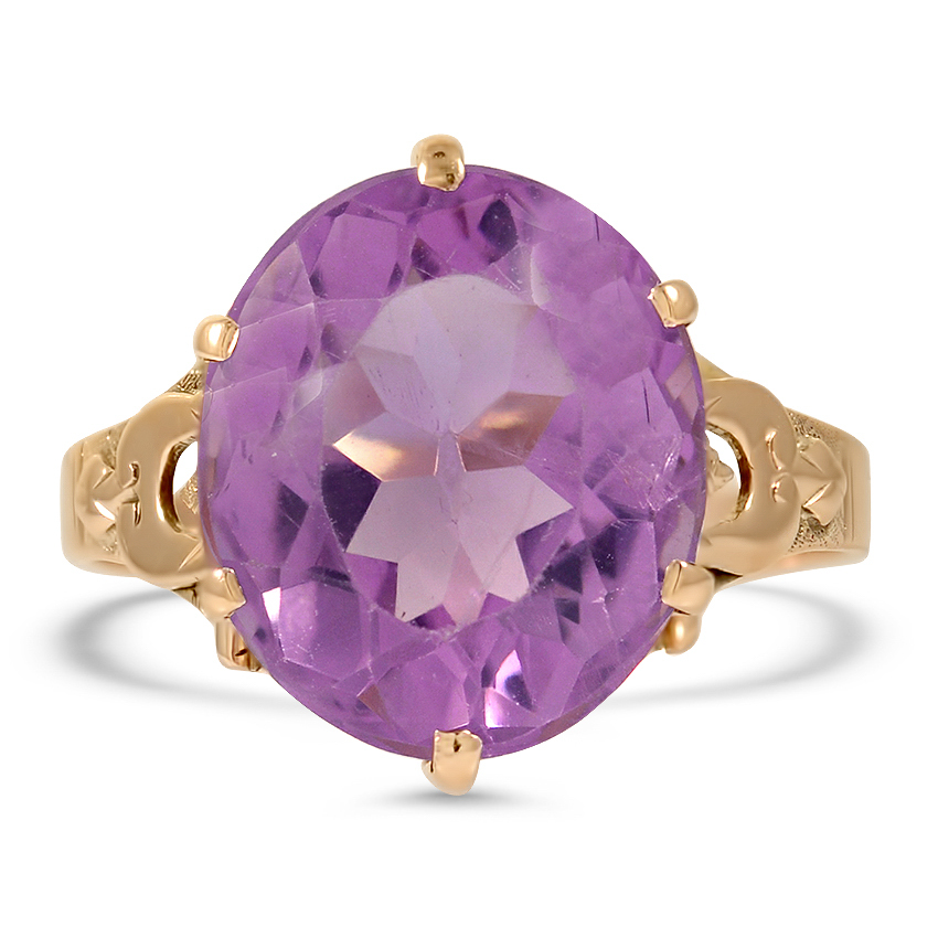 Victorian Amethyst Cocktail Ring