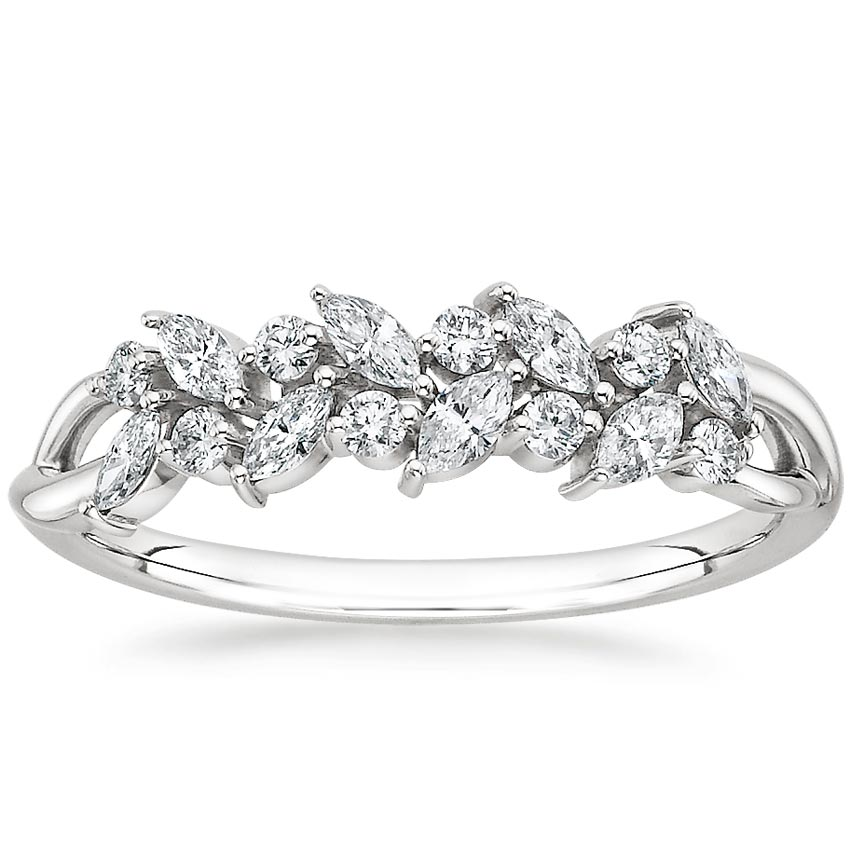 Jardiniere Diamond Ring in Platinum