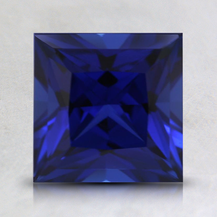 7mm Princess Blue Lab Created Sapphire