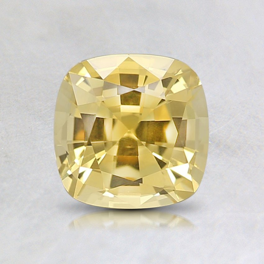6mm Premium Yellow Cushion Sapphire, top view