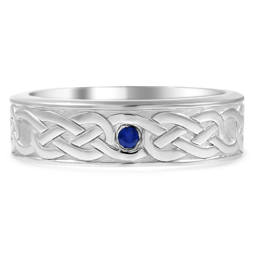 Custom Celtic Sapphire Wedding Band
