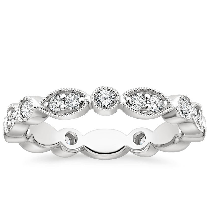Luxe Tiara Eternity Diamond Ring (1/2 ct. tw.) in Platinum