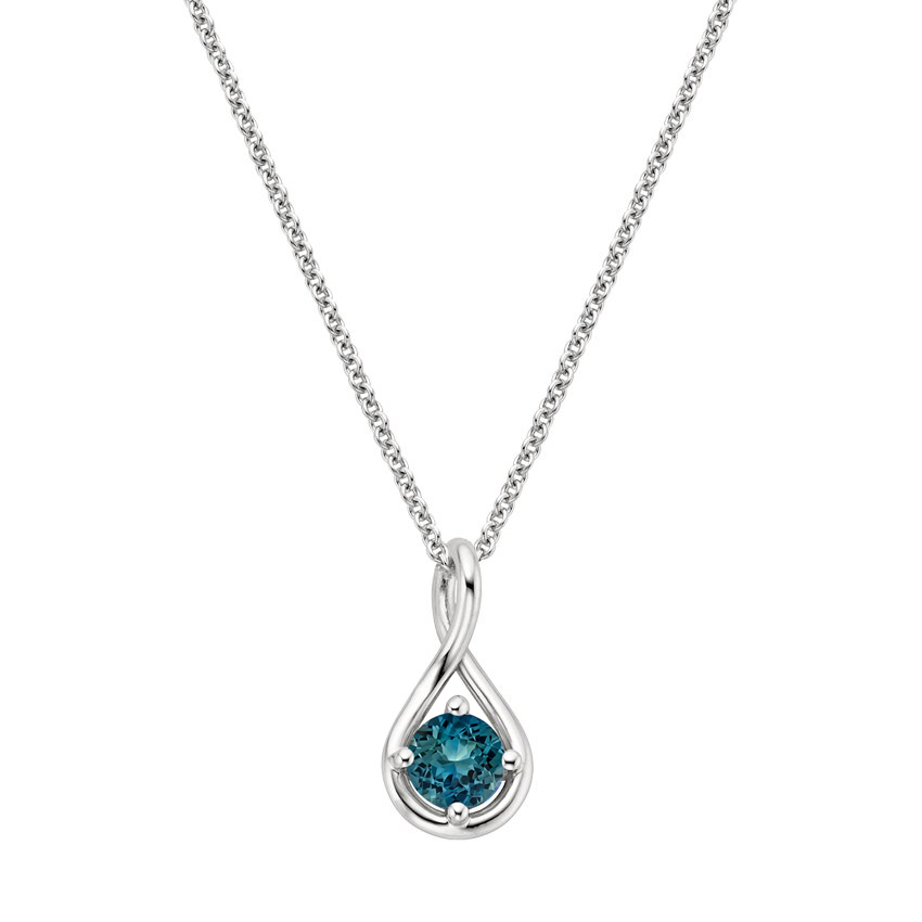 Teal Sapphire Necklace