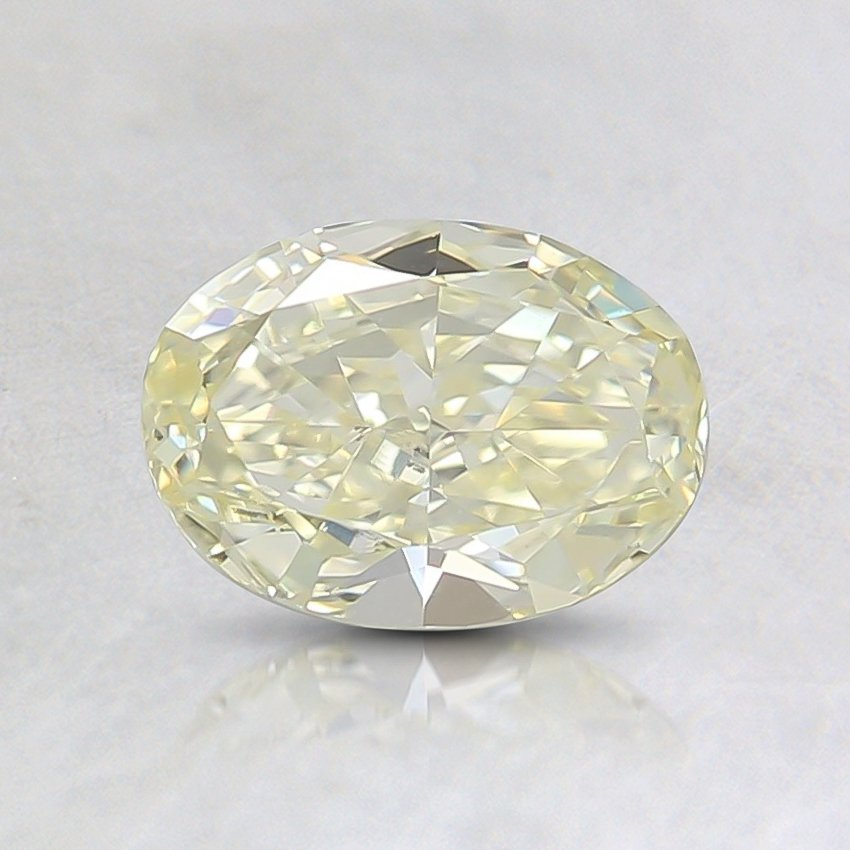 0.61 Ct. Fancy Yellow Oval Diamond