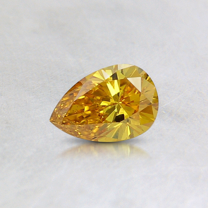 0.30 Ct. Fancy Vivd Orangy Yellow Pear Lab Created Diamond