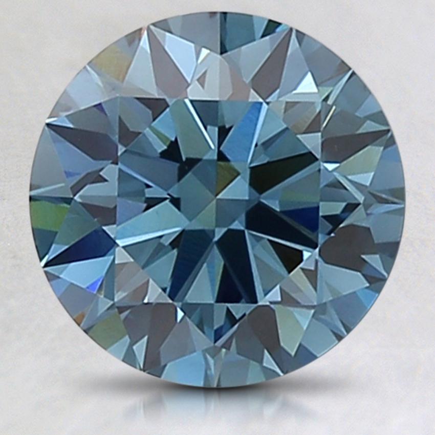 2.64 Ct. Fancy Deep Blue Round Lab Created Diamond