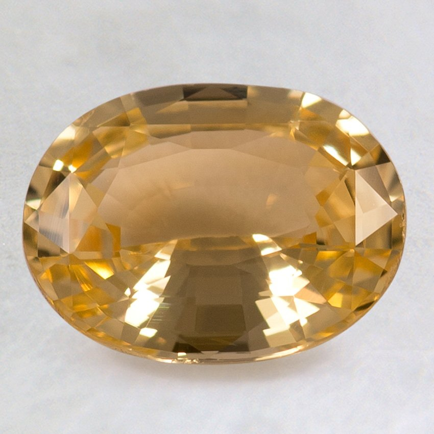 9x7mm Yellow Oval Sapphire