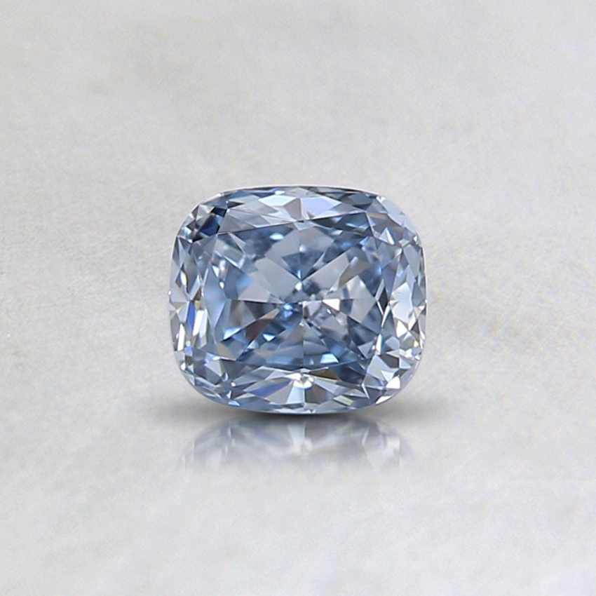 0.33 Ct. Fancy Blue Cushion Lab Created Diamond