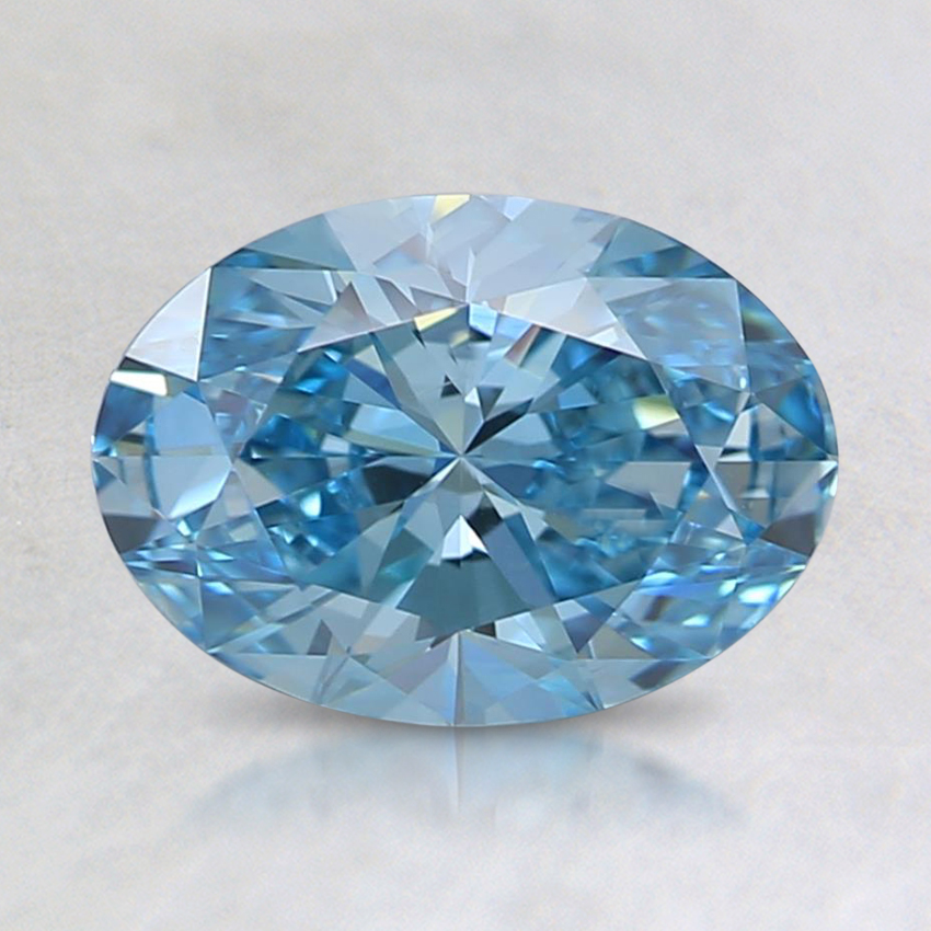 1.07 Ct. Fancy Intense Blue Oval Lab Created Diamond
