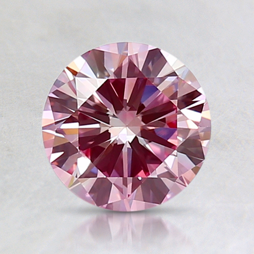 1.23 Ct. Fancy Purplish Pink Round Lab Created Diamond