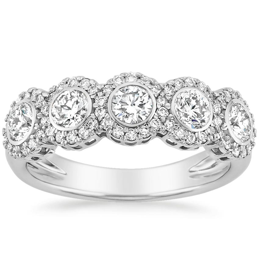 bezel halo wedding ring - Halo Wedding Ring