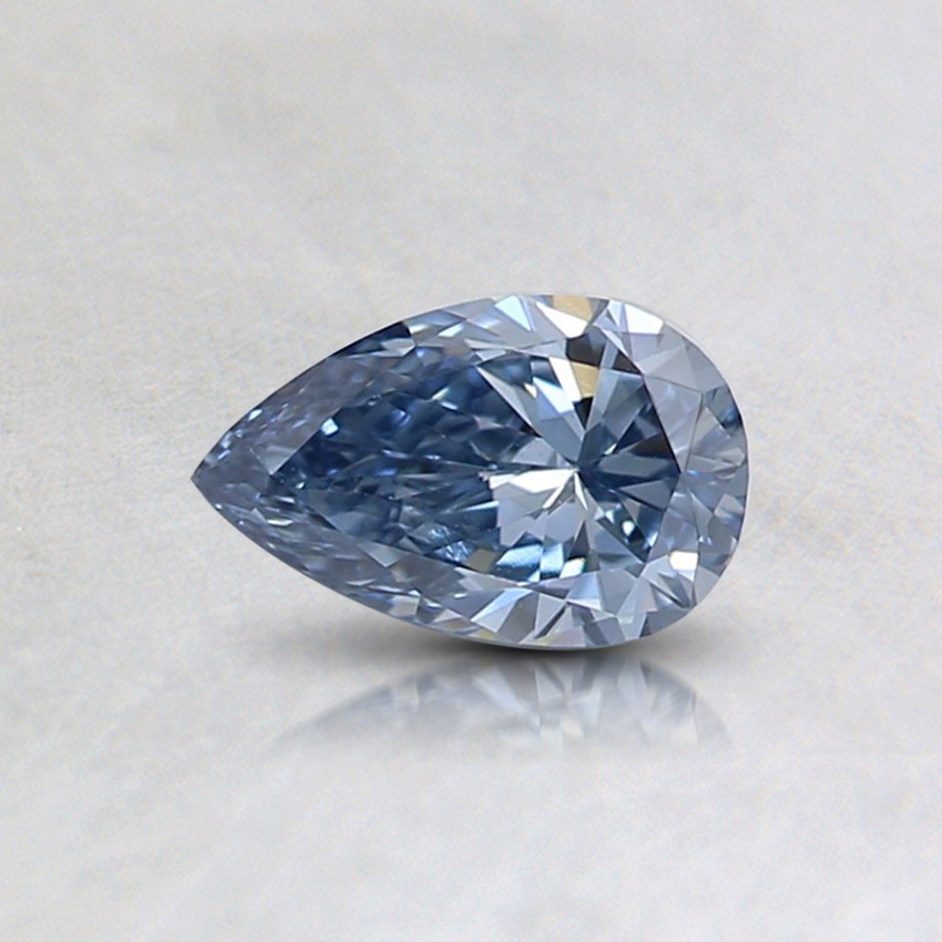 0.33 Ct. Fancy Deep Blue Pear Lab Created Diamond