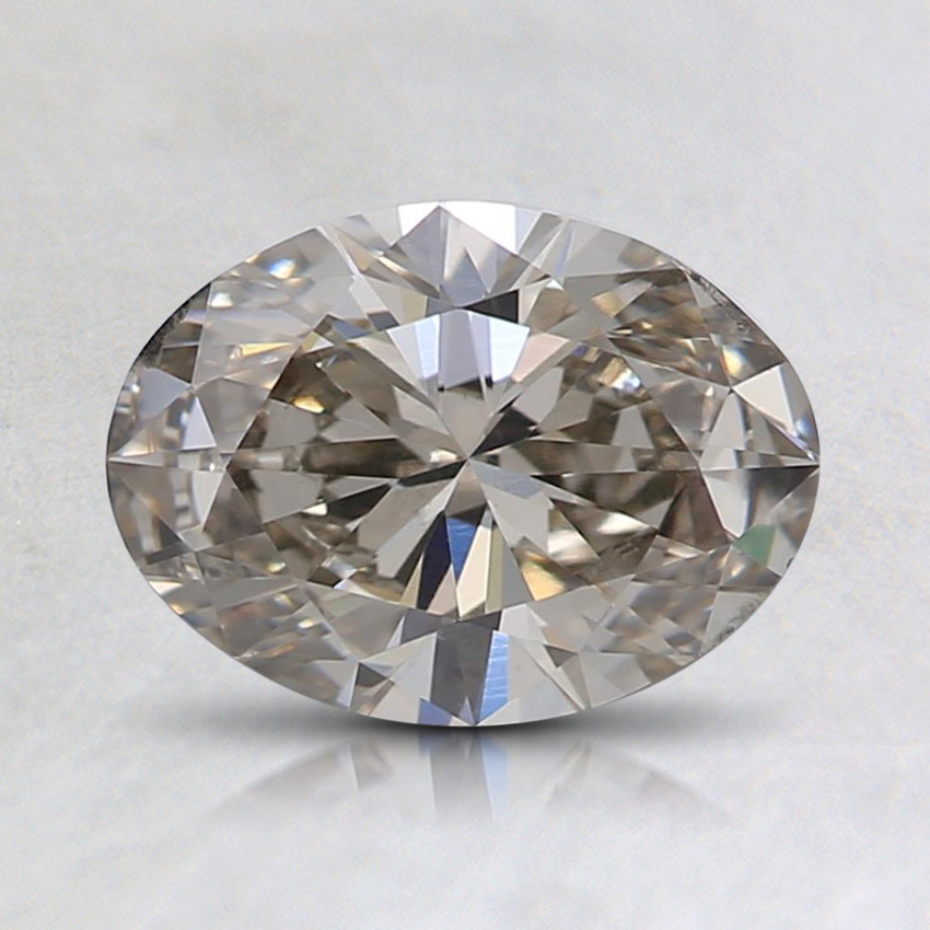 1.00 Ct. Light Gray Oval Lab Created Diamond