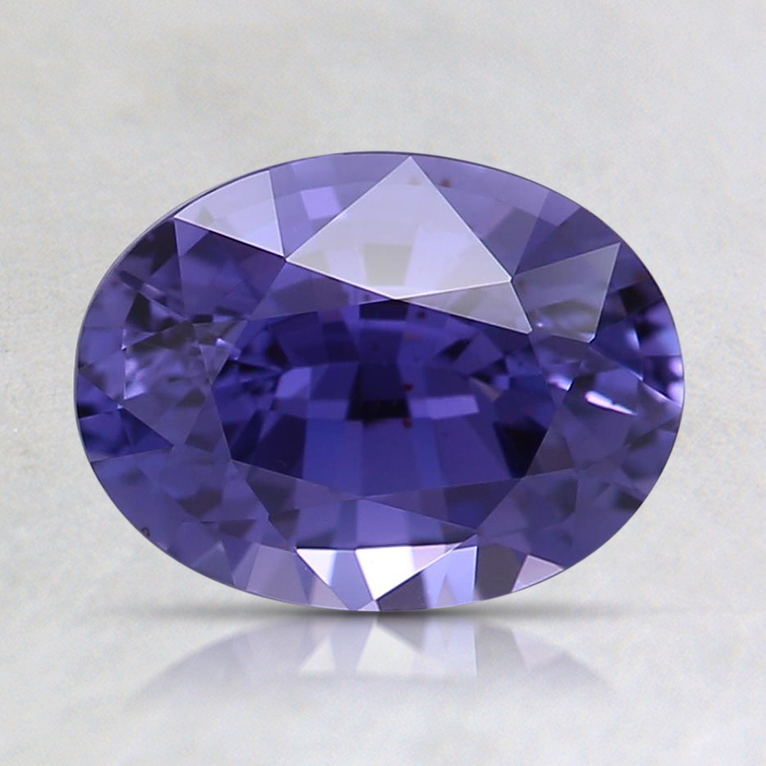 8.1x6.1mm Unheated Purple Oval Sapphire