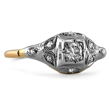 The Sarita Ring, top view