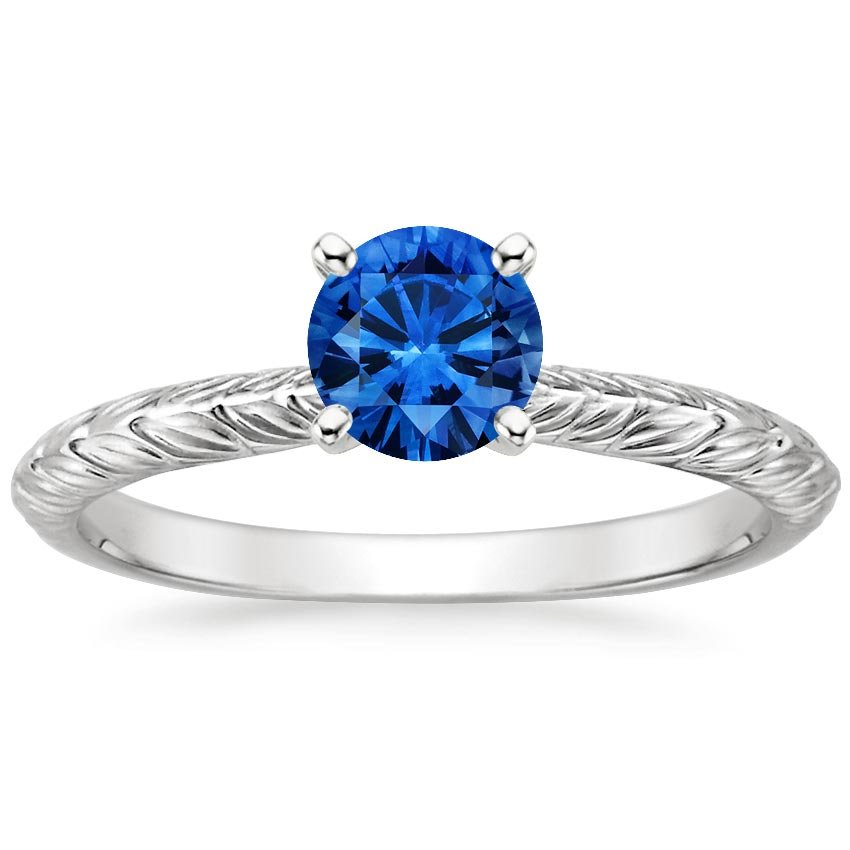18K White Gold Sapphire Garland Ring, top view