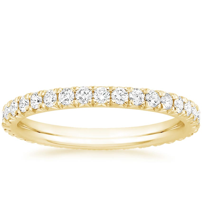 Yellow Gold French Pavé Eternity Diamond Ring