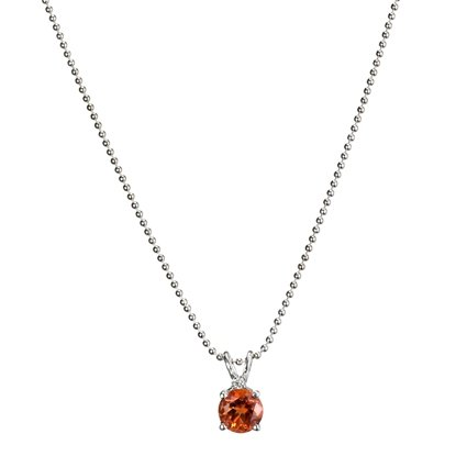 Fire Citrine™ and Diamond Pendant in Silver